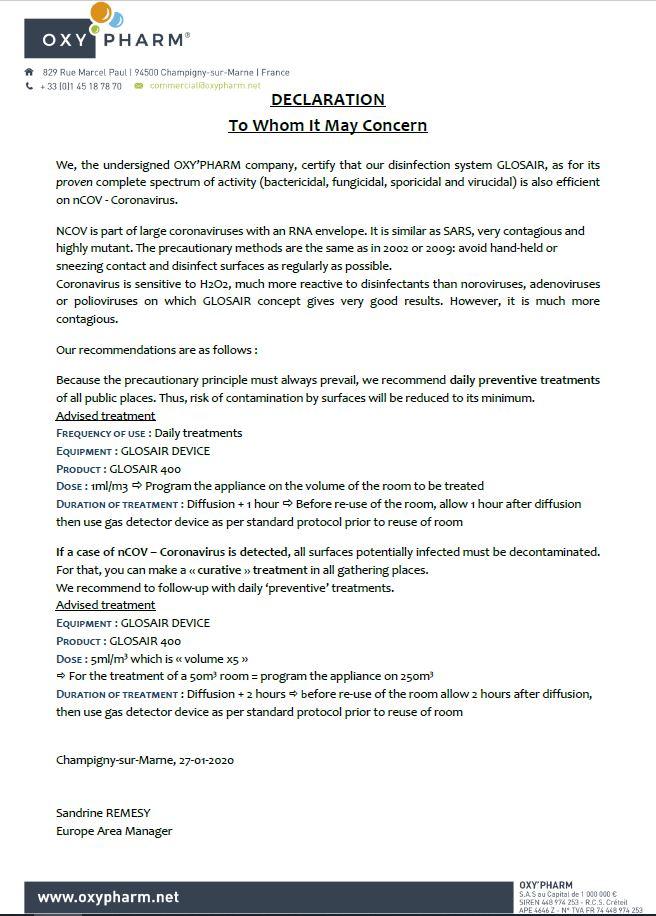 Glosair Declaration